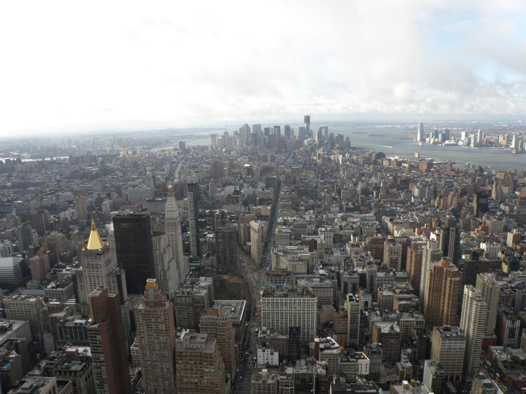 Vue depuis le 86 étage de l'Empire State Building