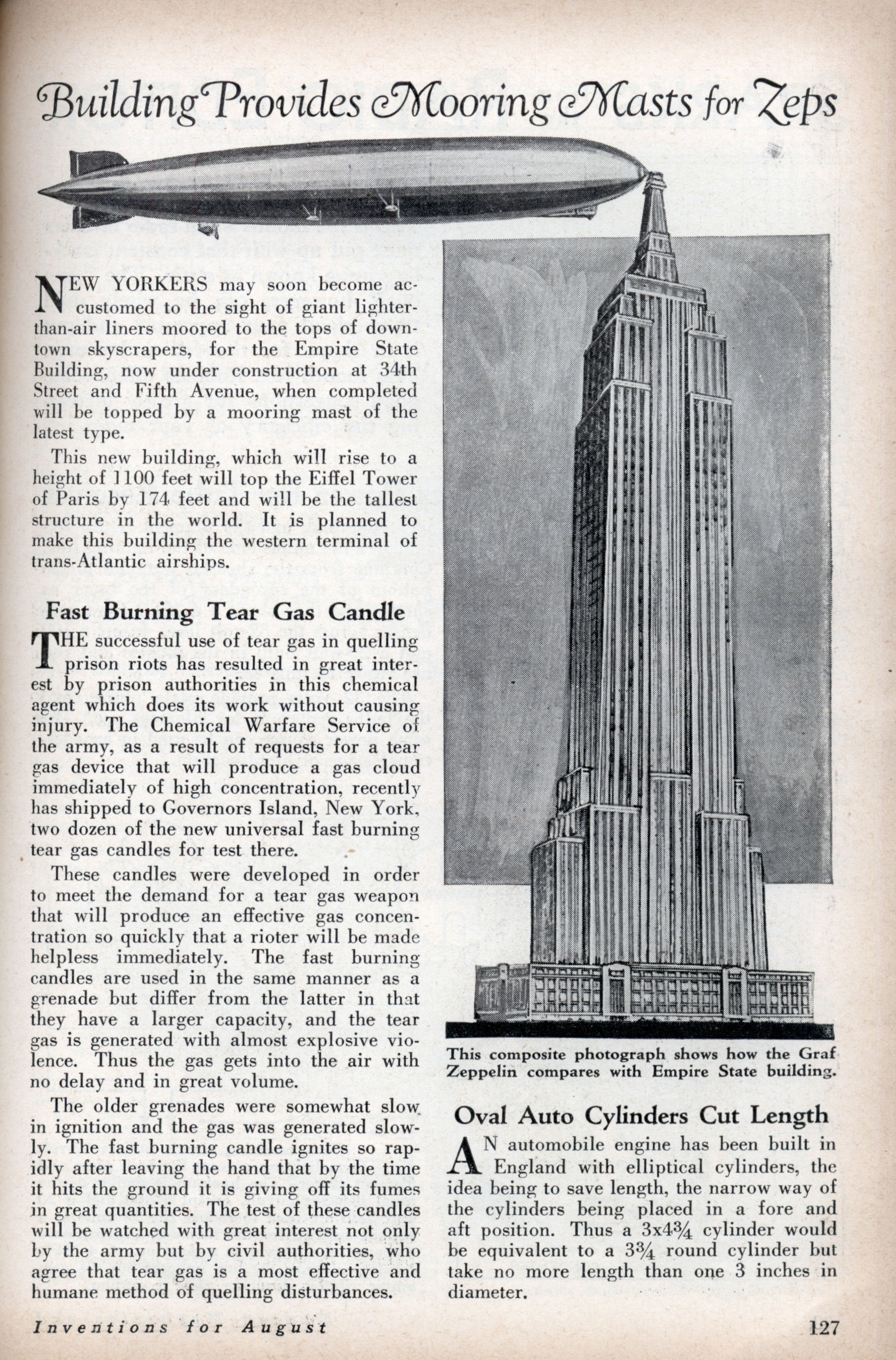 Un dirigeable amarré à l'Empire State Building