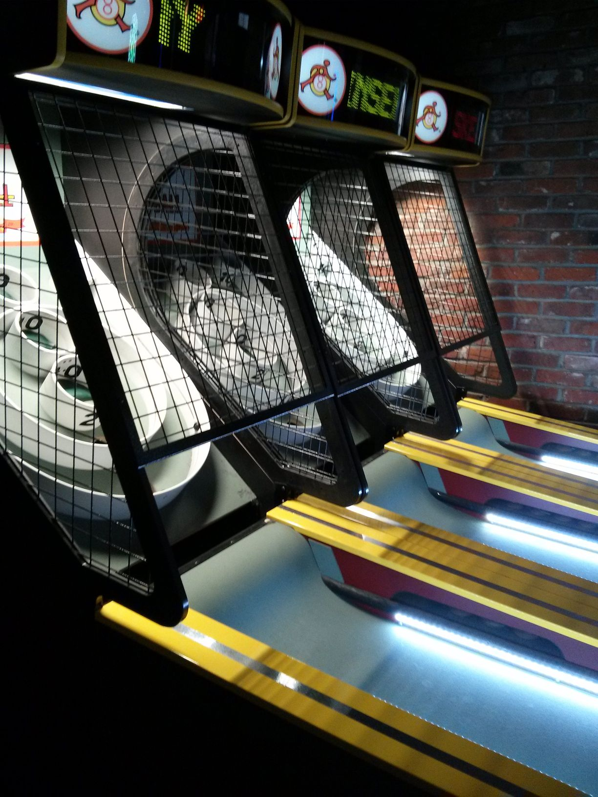 The 1-Up: les 3 pistes de Skee-Ball