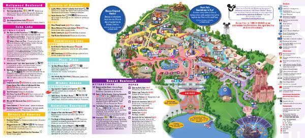 Carte Disney's Hollywood Studios Orlando